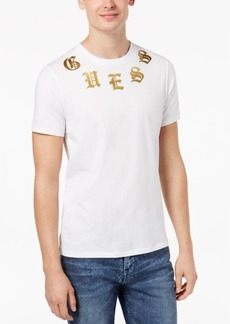 Guess Men's English Metallic Logo-Print T-Shirt