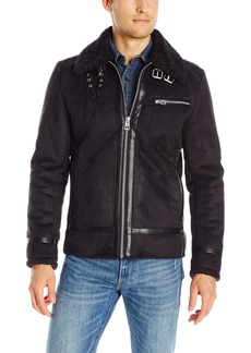 GUESS Men's Faux Shearling Jacket