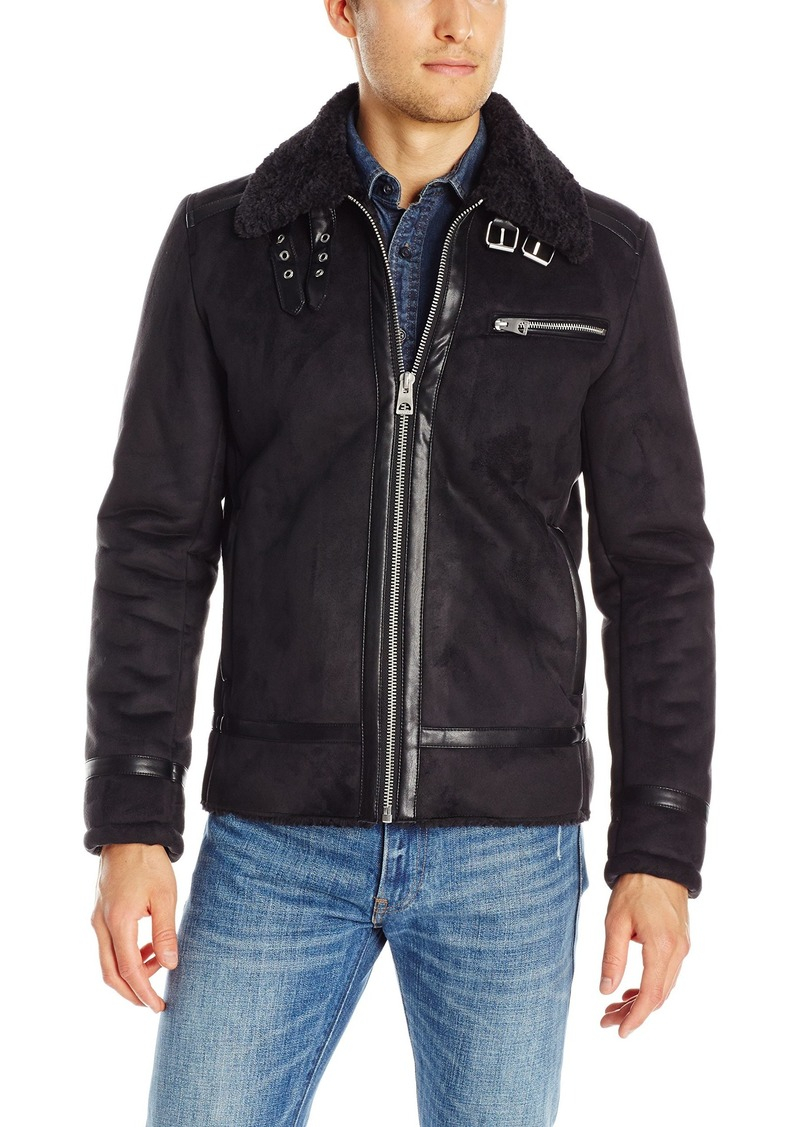 GUESS Men's Faux Shearling Jacket