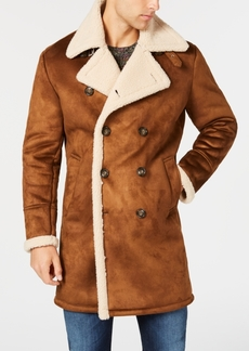 Guess Men's Faux-Shearling Overcoat