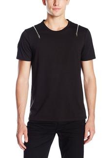 GUESS Men's Ferretti Zipper T-Shirt  L