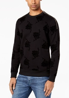 Guess Men's Flocked Sweater