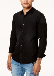 Guess Men's Floral-Print Slim Fit Denim Shirt