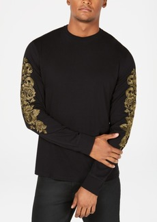 Guess Mens Floral Skull Shirt