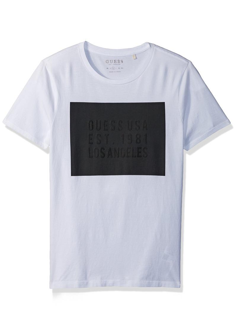 guess guess men 39 s g box logo t shirt xxl t shirts shop. Black Bedroom Furniture Sets. Home Design Ideas
