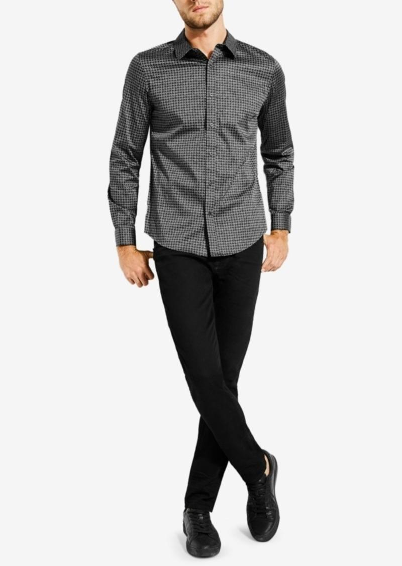 Guess Men's Geometric-Print Shirt