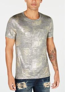 Guess Men's Gold & Silver Textured T-Shirt