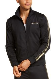 Guess Men's Gold Stripe Track Jacket