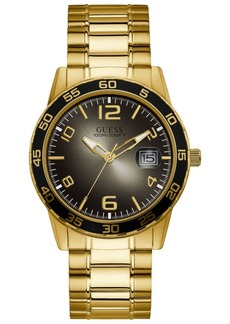 Guess Men's Gold-Tone Stainless Steel Bracelet Watch 42mm