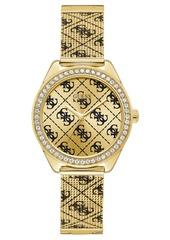 Guess Women's Gold-Tone Stainless Steel Mesh Bracelet Watch 36.5mm