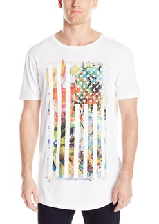 GUESS Men's Graffiti Flag Crew Neck T-Shirt  L