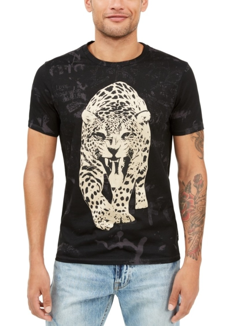 Guess Men's Graffiti Leopard Graphic T-Shirt