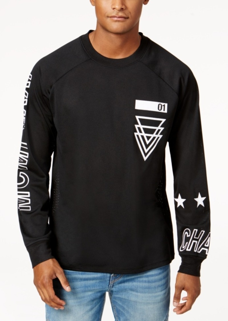 On Sale today! GUESS Guess Men s Graphic-Print Mesh Long-Sleeve T-Shirt cdc84d22055