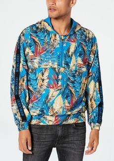 Guess Men's Half-Zip Tropical Hoodie