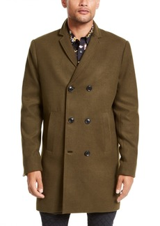 Guess Men's Harlan Melton Double-Breasted Overcoat