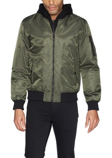 GUESS Men's Hooded Bomber Jacket  L