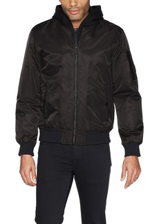 GUESS Men's Hooded Bomber Jacket  L