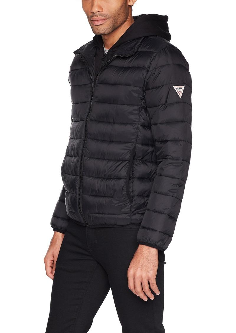 GUESS Men's Hooded Puffer Jacket  M