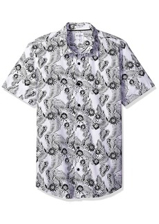 Guess Men's Ink Palm Laguna Shirt True White S