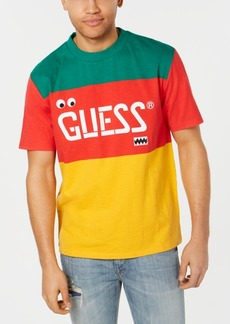 012e5154f3aa Guess Men's J Balvin Vibras Colorblocked Logo Graphic T-Shirt