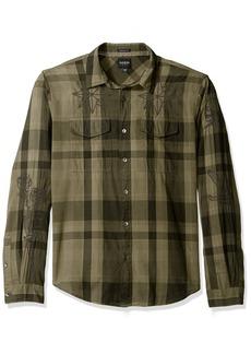 GUESS Men's Jake Voile Plaid Shirt  XL