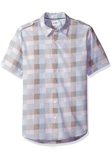 GUESS Men's Jake Voile Dot Check Shirt  L