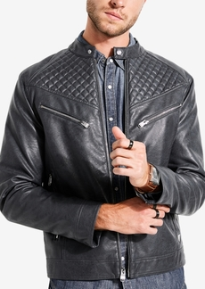 Guess Men's Jasper Quilted Racer Jacket