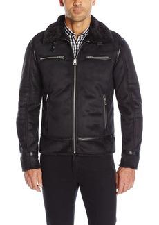 GUESS Men's Jenson Faux Shearling Jacket  L