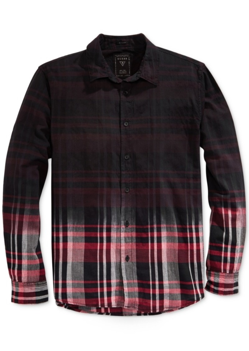 Guess Men's Joey Ombre Plaid Long-Sleeve Shirt