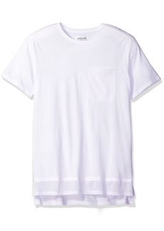 GUESS Men's Jordan Mesh Longline T-Shirt True White A L