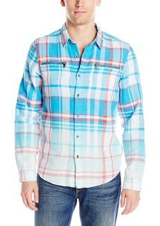 GUESS Men's Karter Plaid Linen Shirt