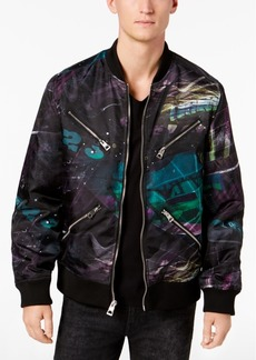 Guess Men's Kennith Chaos-Print Jacket