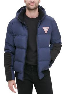 Guess Men's Large Logo Hooded Puffer Jacket