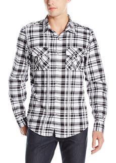 GUESS Men's Layne Plaid Military Shirt  XXL