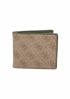 GUESS RFID Blocking Slim Slingle Fold Bifold Wallet with Interior Coin Pocket