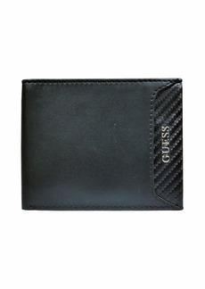 Guess Men's Leather Slim Bifod Wallet black Mathias
