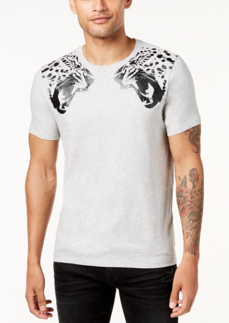 J Lindeberg Sev Animal Print Ss Cn T Shirt Grey
