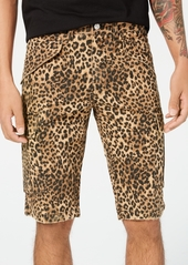 Guess Men's Leopard-Print Cargo Shorts
