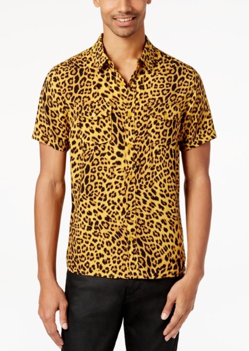 ccd2a779a7 GUESS Guess Men s Leopard-Print Shirt
