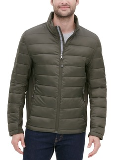Guess Men's Lightweight Puffer Jacket with Side Panels