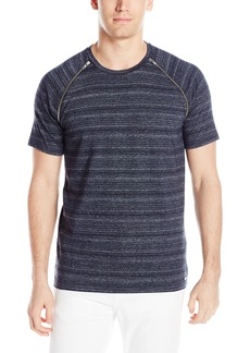 GUESS Men's Linear Space-Dye Raglan T-Shirt