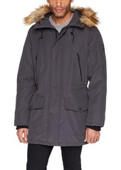 GUESS Men's Long Parka with Removable Fur DAC