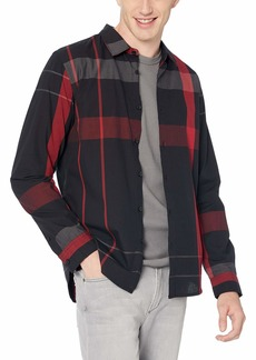 Guess Men's Long Sleeve Canyon Plaid Shirt  M
