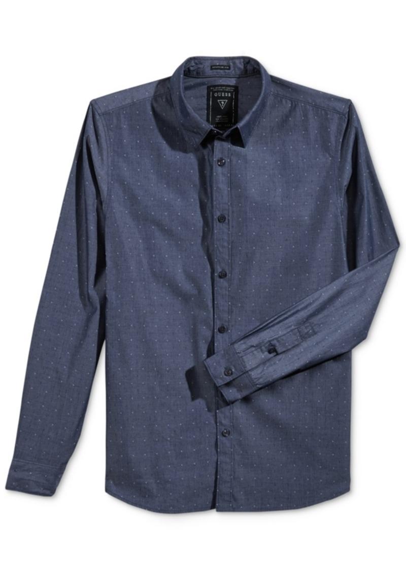 Guess Men's Long-Sleeve Dobby Shirt