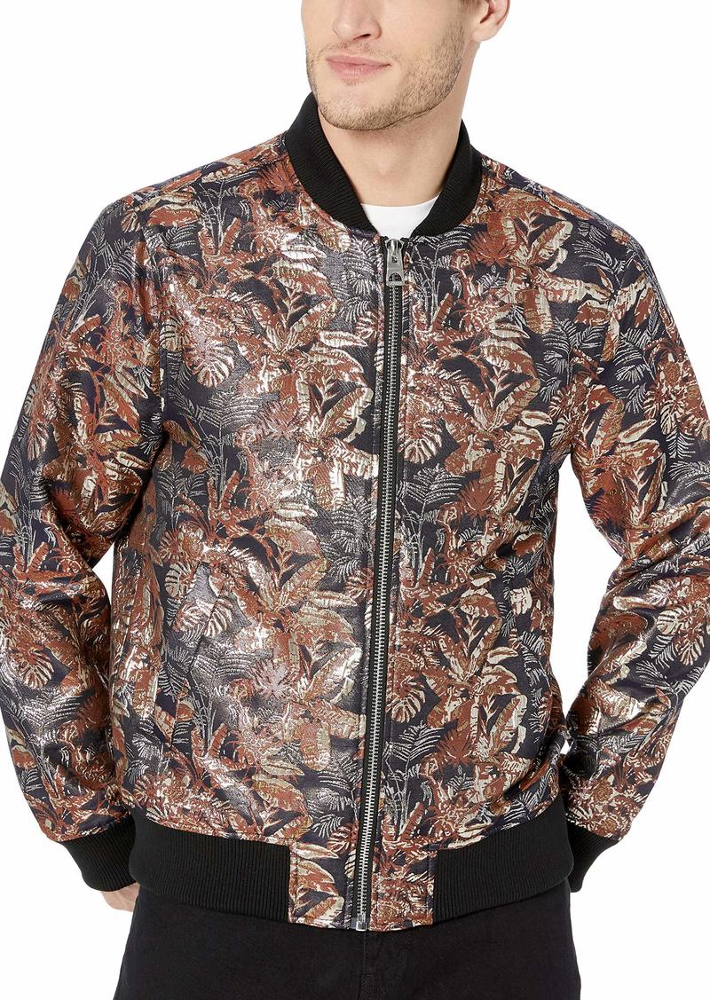 GUESS Men's Long Sleeve Grand Brocade Bomber Jacket  XXL