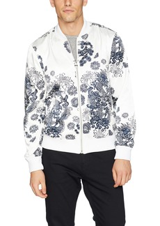 Guess Men's Long Sleeve Katagami Print Bomber Scuffy M