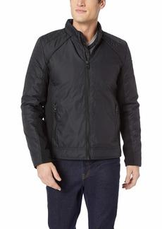 GUESS Men's Long Sleeve Liam Iridescent Moto Jacket  XXL