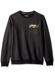GUESS Men's Long Sleeve Logan CAMO Crew Neck Shirt  M