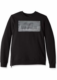 GUESS Men's Long Sleeve Logan Coated Crew Neck Shirt  XL