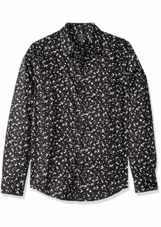 GUESS Men's Long Sleeve Luxe Dot Print Shirt luxe dot print black M